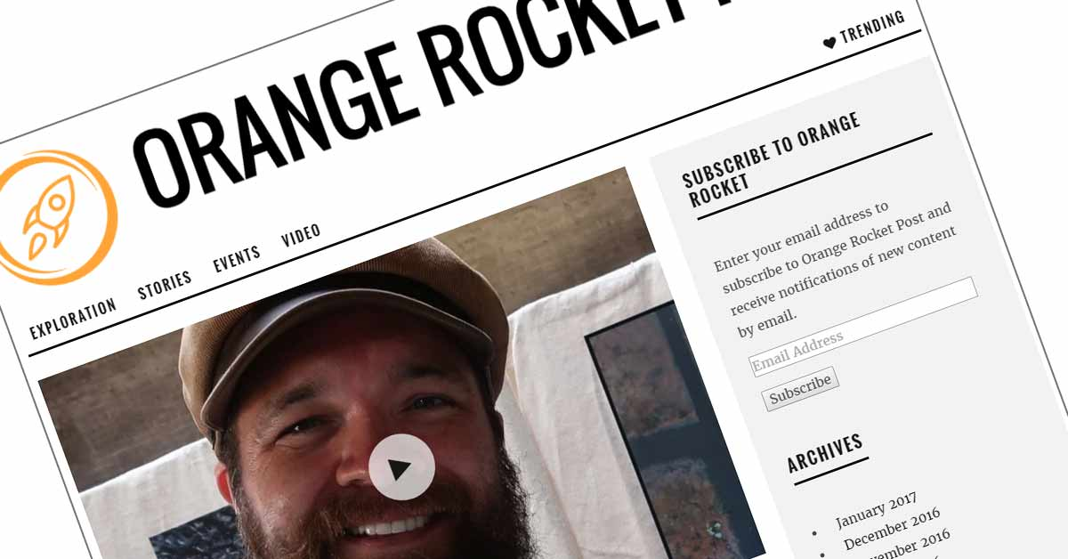 Orange Rocket Post Covers Chris Carr's Art Photography