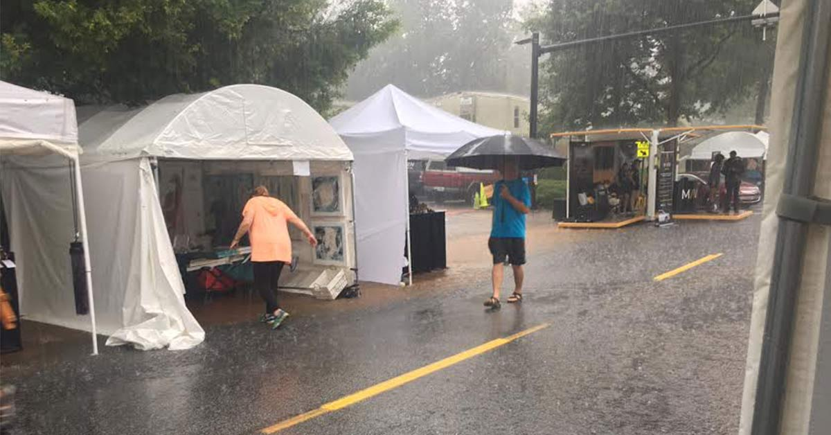 Coping with the Weather at Outdoor Art Shows