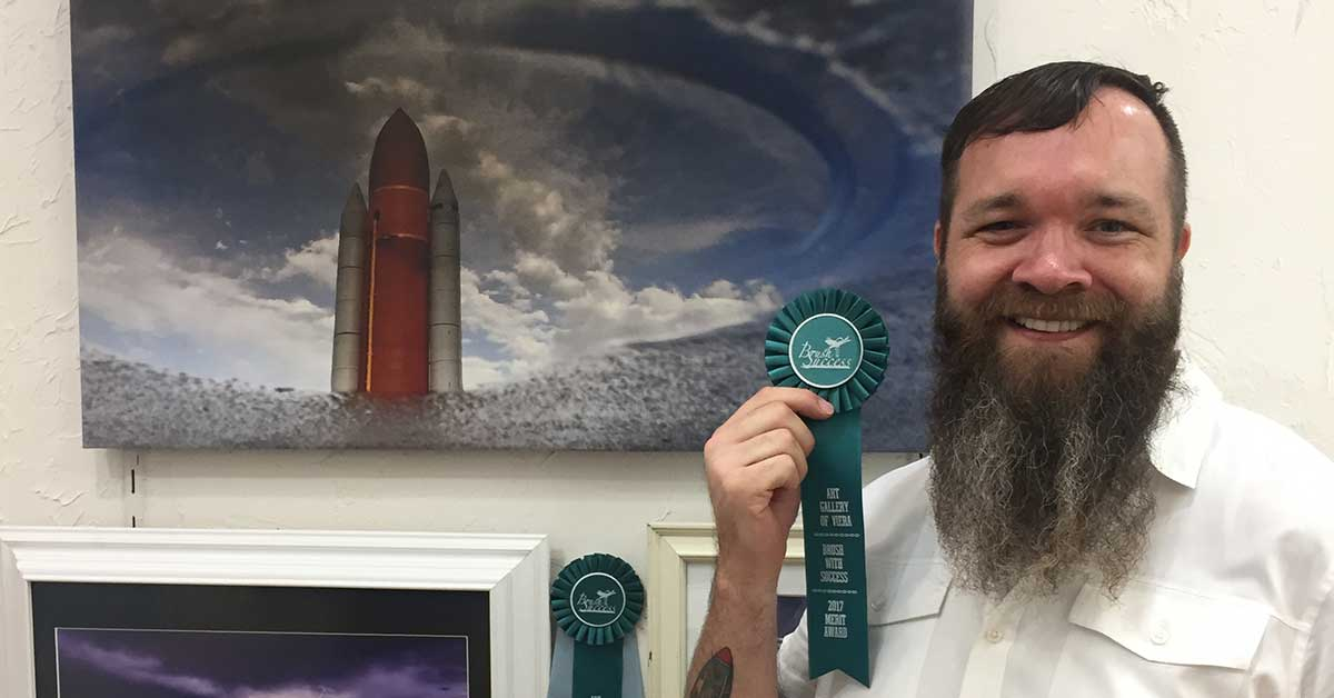 "Chris Carr Wins Merit Award at Art Gallery of Viera's ""Brush with Success"""