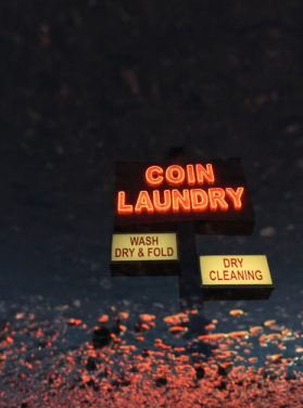 Nighttime at the Coin Laundry