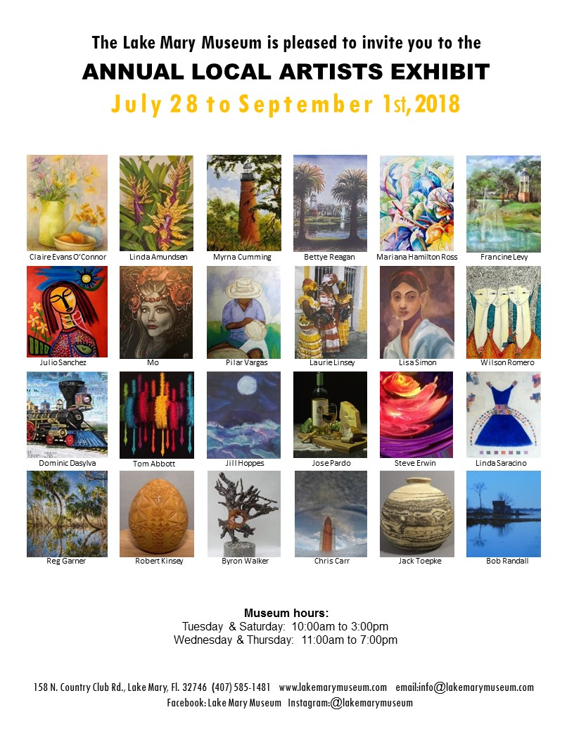 Lake Mary Museum's Annual Local Artists Exhibit