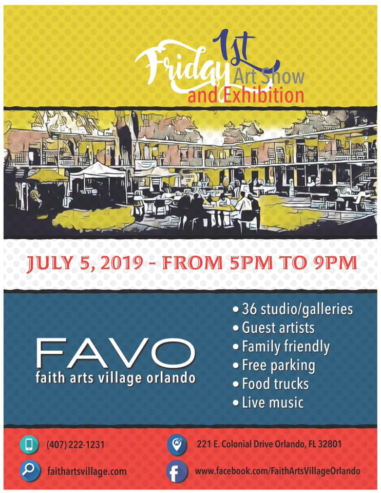 FAVO 1st Friday Art Show July 2019