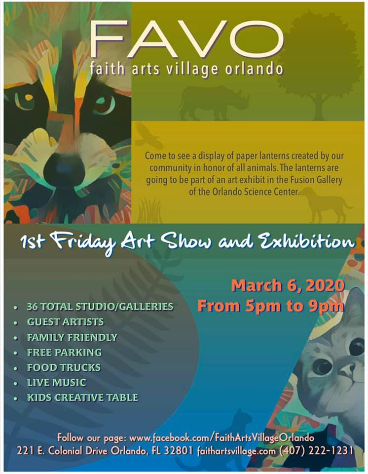 FAVO 1st Friday Art Show March 2020