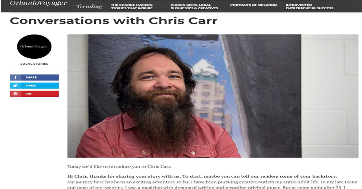 Conversations with Chris Carr